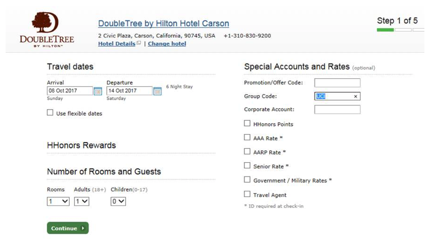 Double Tree Hotel Information